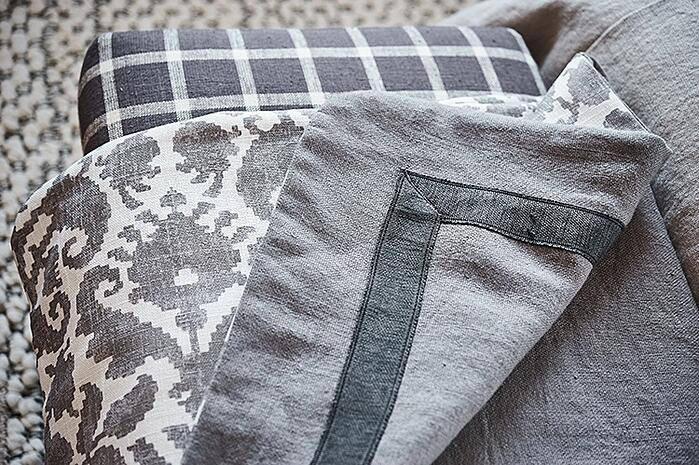 French General gray fabrics with pattern